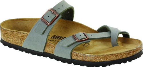 Stone synthetic sandal with cork footbed by Birkenstock.