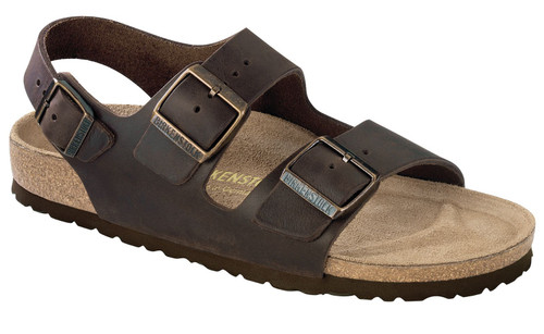 three strap sandal with cork footbed by Birkenstock.