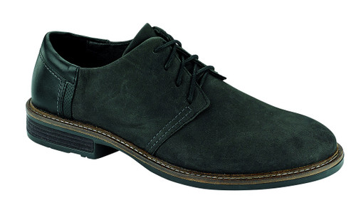 Black Nubuck Casual Dress Lace up with cork footbed.