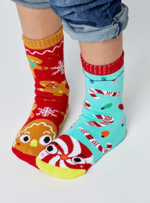 Pals Children's Socks - Gingerbread & Candy Cane
