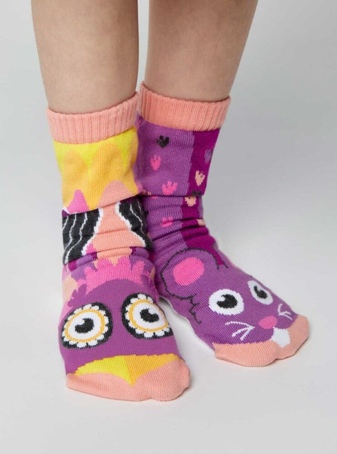 Pals Children's Socks - Owl & Mouse