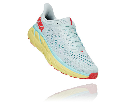 Hoka One One Women's Clifton 7 Morning mist/Hot coral.