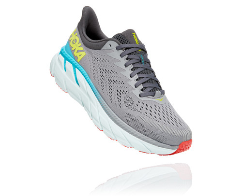 Hoka One One Men's Clifton 7 wide Wild dove/ Dark shadow.