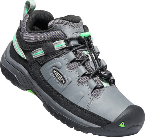 Keen Children's Targhee Low WP - Steel Grey/Irish Green
