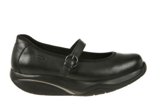 Black mary jane rocker bottom shoe by MBT.