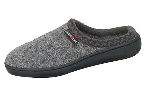 Grey wool house shoe by Haflinger.