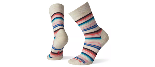 Multi colored stripe sock by Smartwool.