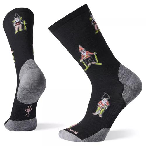 Black Smartwool gnome print sock.