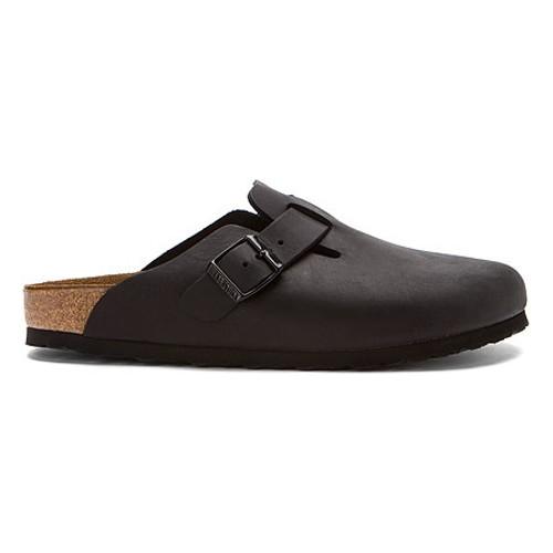 Birkenstock Boston - Black Oiled Leather