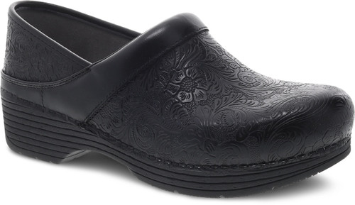 Dansko Women's LT Pro - Black Floral Tooled