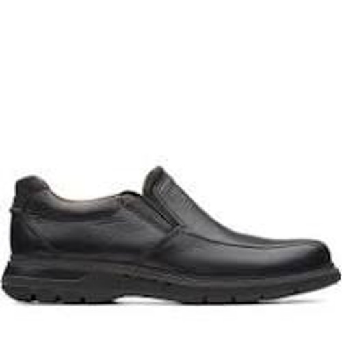 Clarks Men's Un Ramble Step - Black Leather