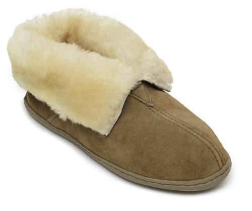 Minnetonka Women's Sheepskin Ankle Boot (#3351) - Golden Tan