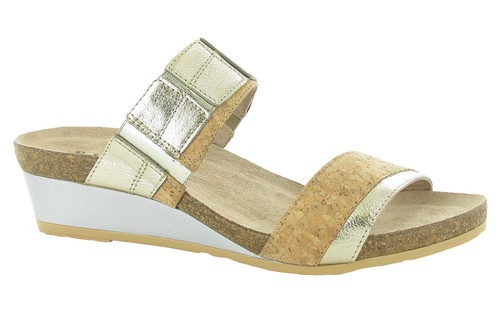 Naot Women's Royalty - Radiant Gold Leather/Cork Leather Combo