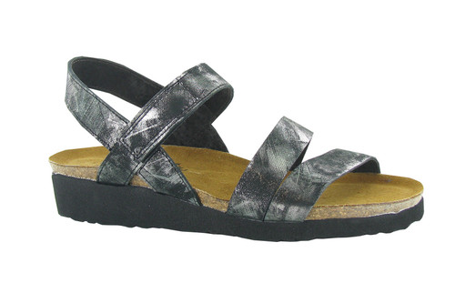 Naot Women's Kayla - Metallic Onyx Leather