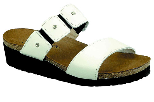 Slide sandal with rhinestone accents from Naot