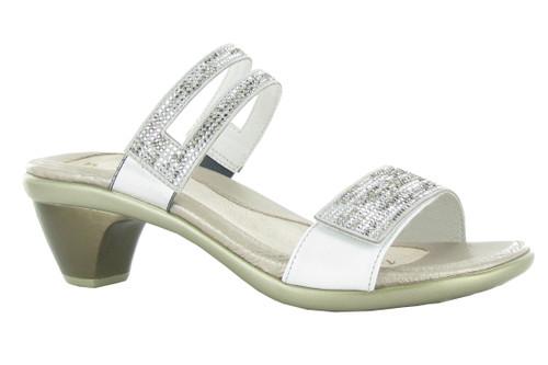 Naot Women's Temper - White Pearl Leather/Wht Multi Rivets