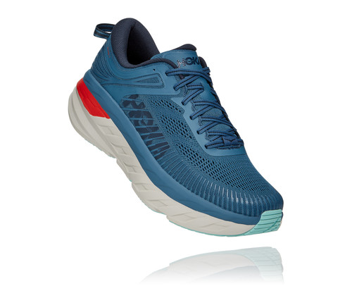 Hoka One One Men's Bondi 7 Wide - Real Teal/Outer Space