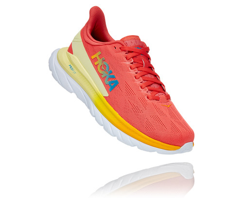 Hoka One One Women's Mach 4 - Hot Coral/Saffron