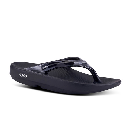 Oofos Women's Oolala Thong Sandal - Black Camo