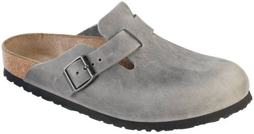 Birkenstock Boston Soft Footbed - Iron Oiled Leather