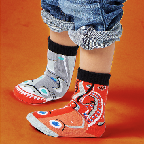 Pals Children's Socks - Shark & Octopus