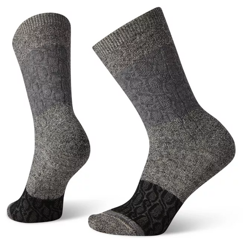 Smartwool Women's Color Block Cable Crew - Charcoal