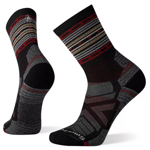 Smartwool Men's Pro Hike Light Cushion Spiked Stripe Crew - Charcoal