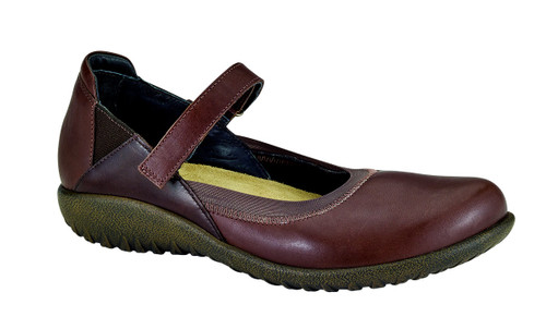 Toffee walnut mary jane with removable footbed by Naot.