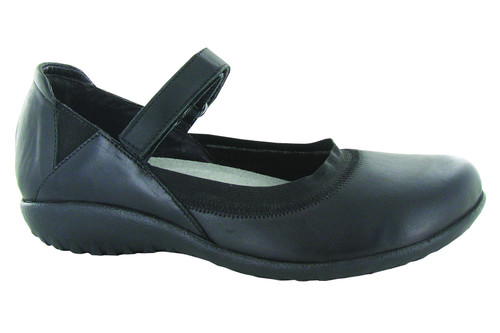 Black combo mary jane with removable footbed by Naot.