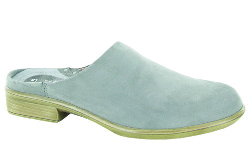 Light grey mule with removable footbed by Naot.