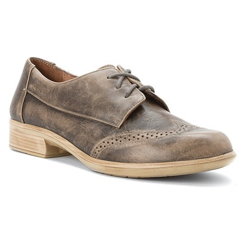 Vintage grey flat lace up with removable footbed by Naot.