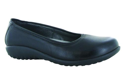 Soft Black Slip on ballet flat with removable cork footbed