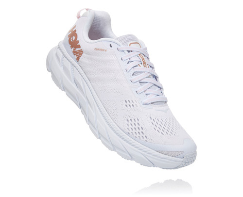 Hoka One One Women's Clifton 6 White/Gold Rose