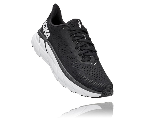 Hoka One One Women's Clifton 7 Wide Black/White
