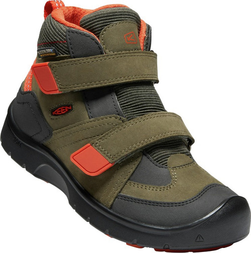 Keen Children's Hikeport Mid Strap WP - Martini Olive/Pureed Pumpkin