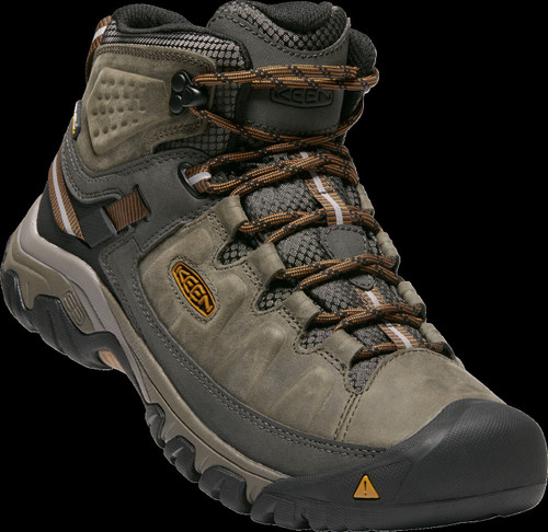 Keen Men's Targhee III Mid WP Wide - Black Olive/Golden Brown