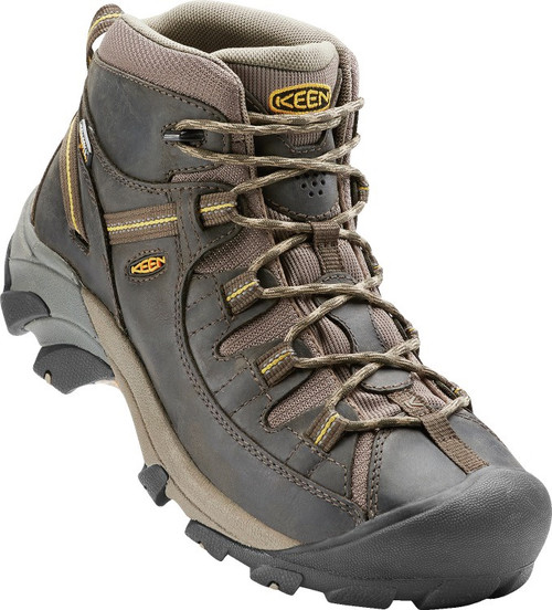 Keen Men's Targhee II Mid WP - Black Olive / Yellow