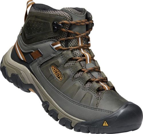 Keen Men's Targhee III Mid WP - Black Olive/Golden Brown