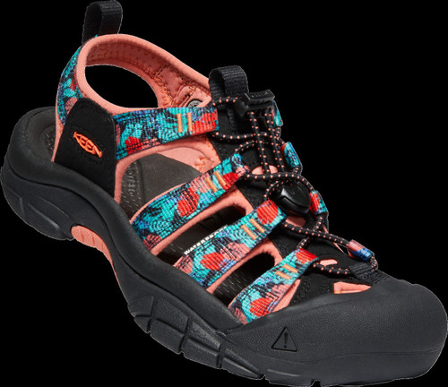 Keen Women's Newport H2 - Black Multi/Coral