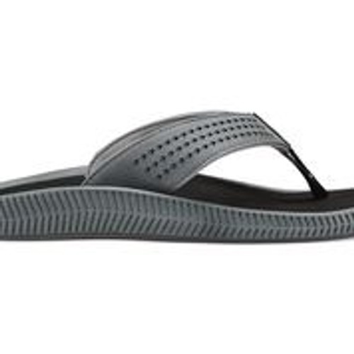 Olukai Men's Ulele - Dark Shadow/Black