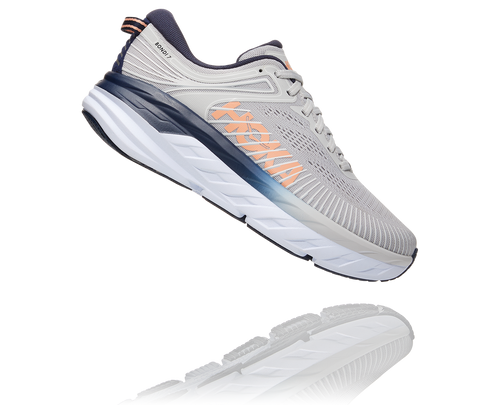 Hoka One One Women's Bondi 7 Wide Lunar Rock/Nimbus Cloud