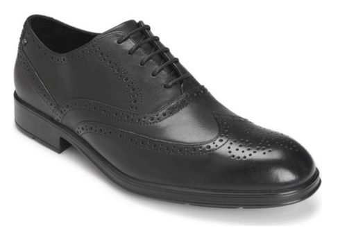 Black men's dress shoe by Rockport.