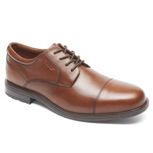 Waterproof brown leather dress lace up by Rockport.