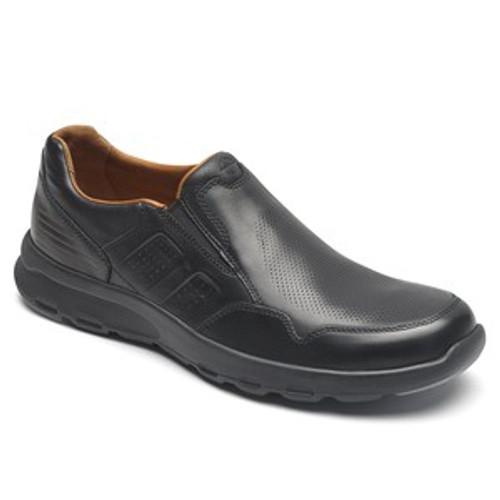 Rockport Men's LW Slip On - Black Leather