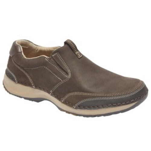 brown slip on by Rockport.