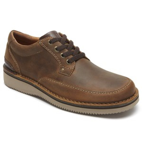 Beeswax Leather plain toe casual lace up by Rockport.