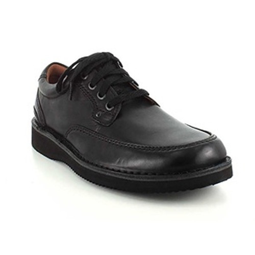 Black plain toe casual lace up by Rockport.