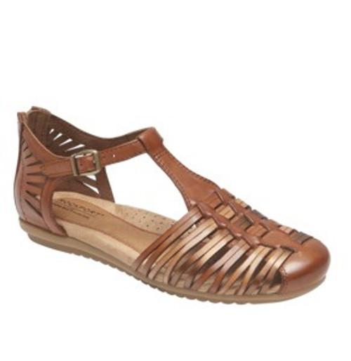 Tan multi huarache sandal by Rockport.