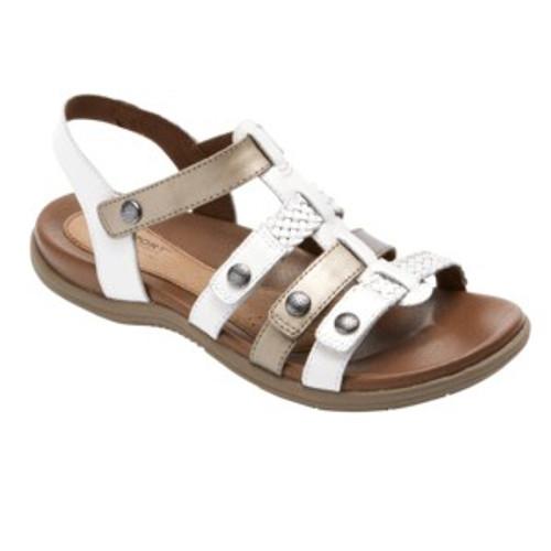 White multi strap sandal by Rockport.