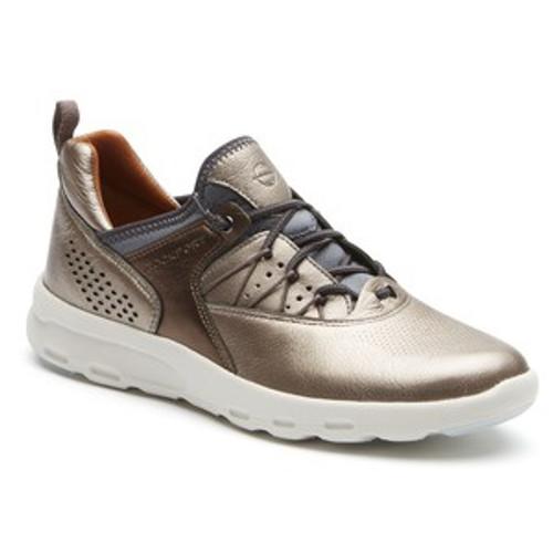 Metallic Leather Bungee Athletic Shoe